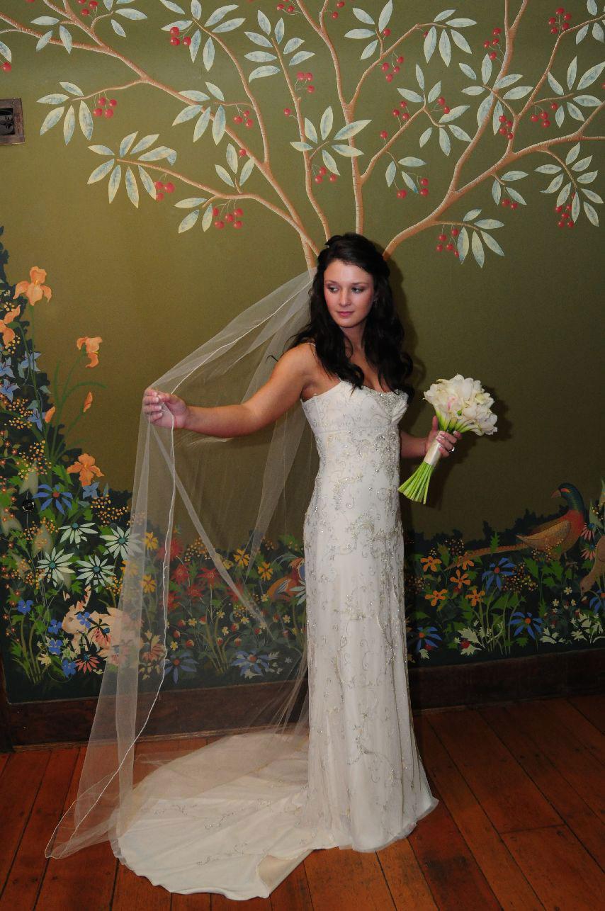 Bride in the Front Hallway